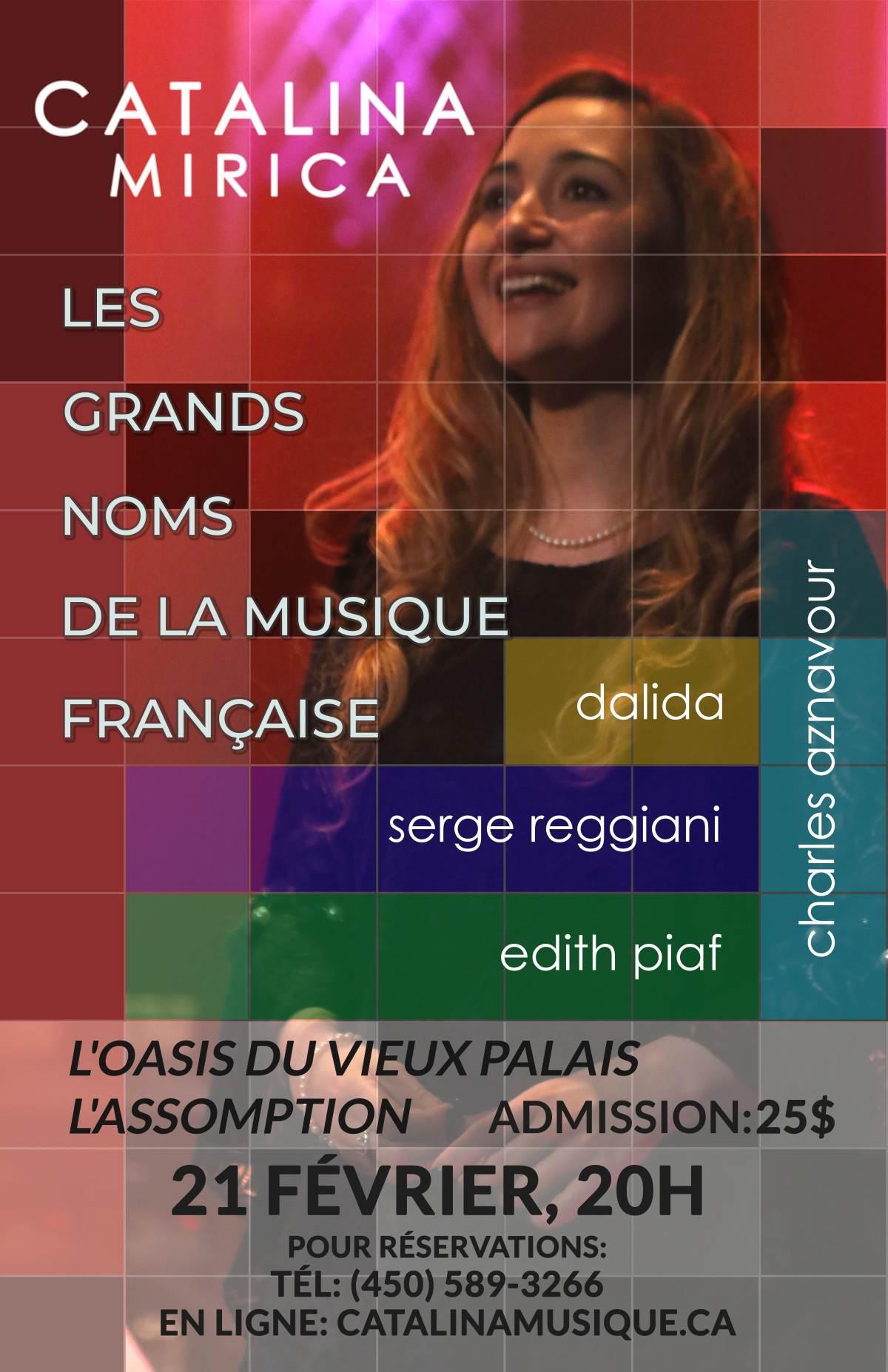 Les grands noms de la musique francaise par Catalina